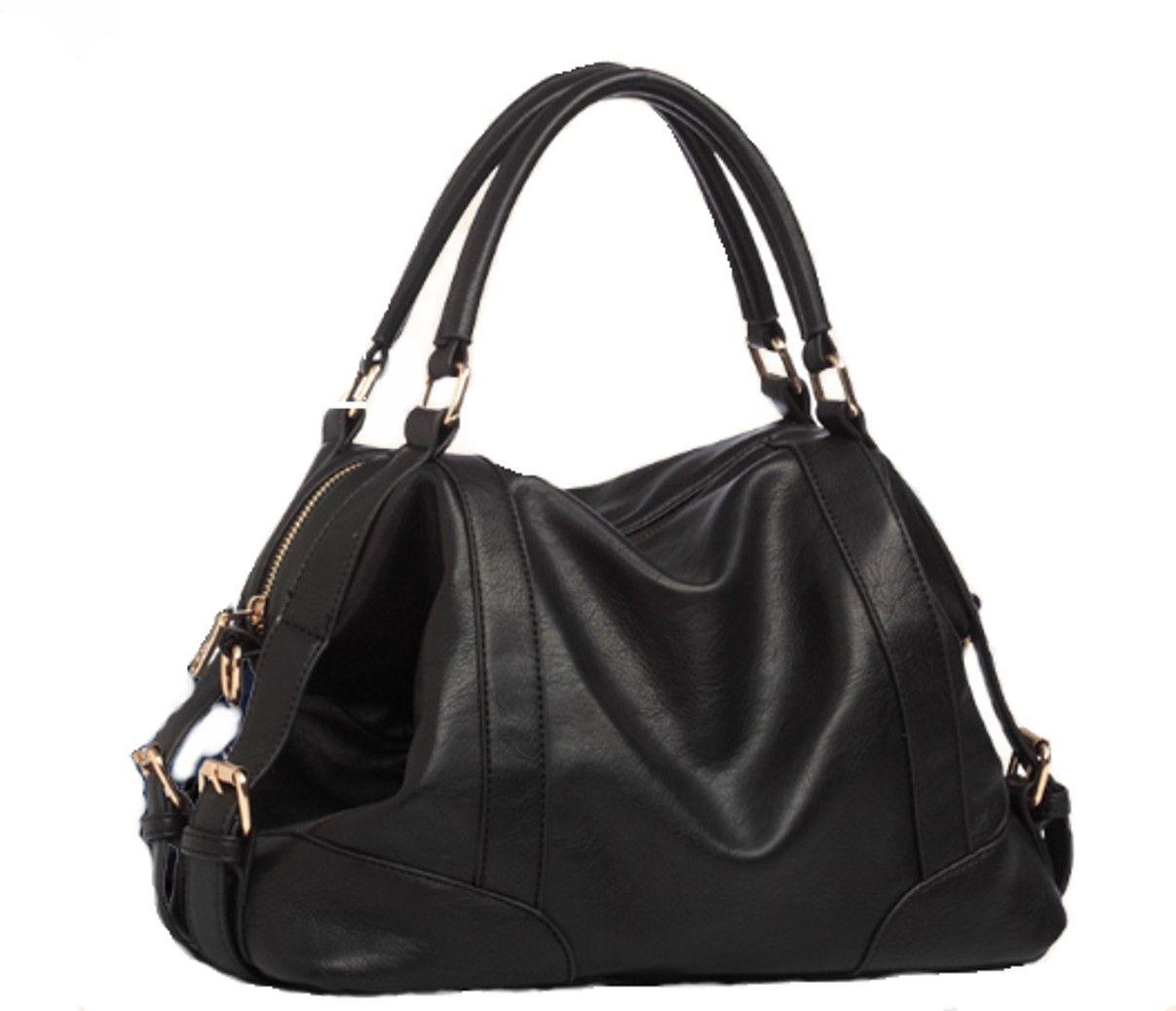 HYP Sac a Main Femme Sac Cabas Bandouliere Les épaules de la jeune fille élégante trousse sac de voyage en nylon, noir