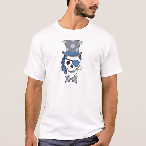 Groom Pirate Skull Blue T-Shirt