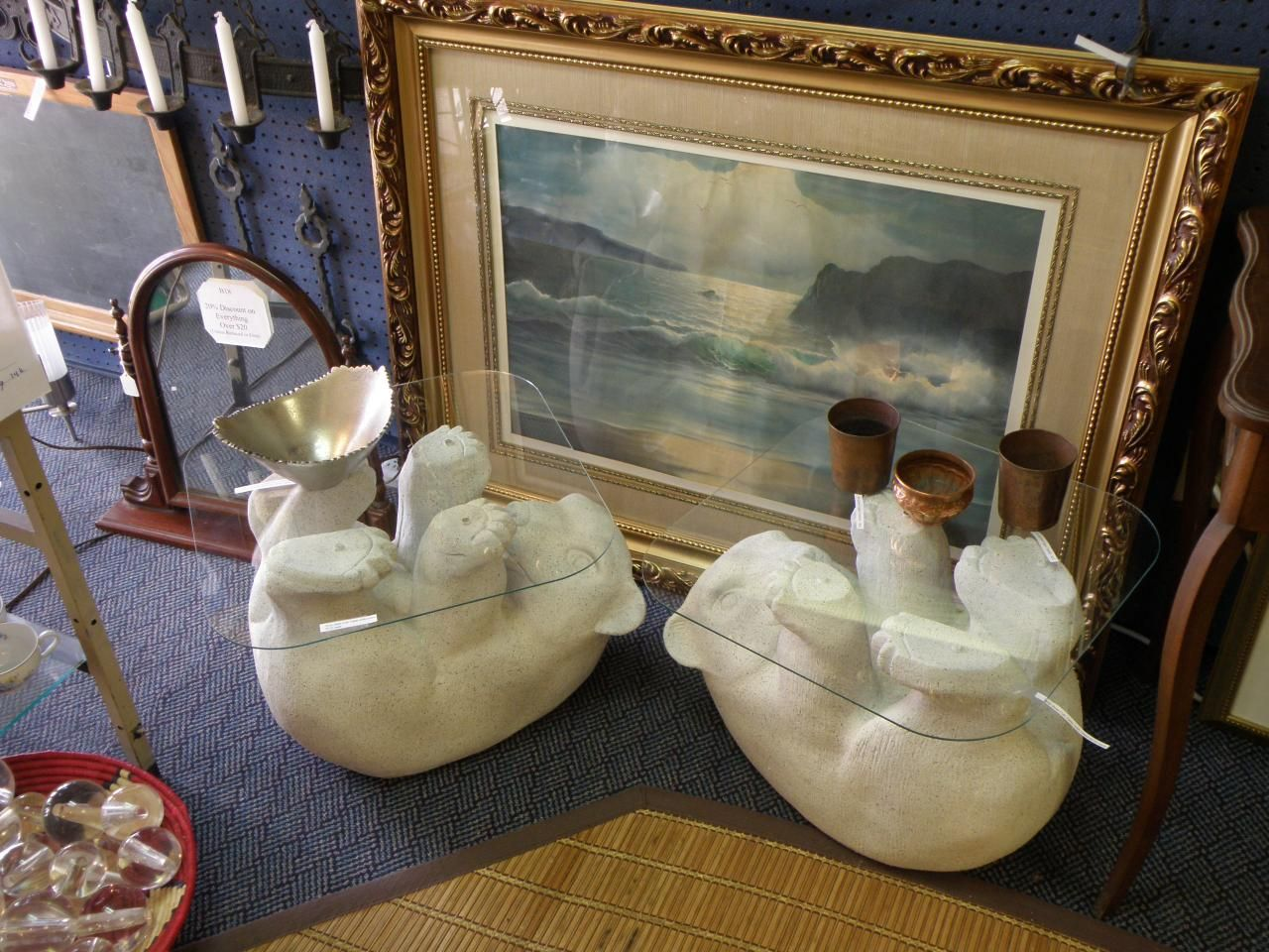 Glass top polar bear coffee table doces abobrinhas pinterest glass top polar bear coffee table geotapseo Gallery