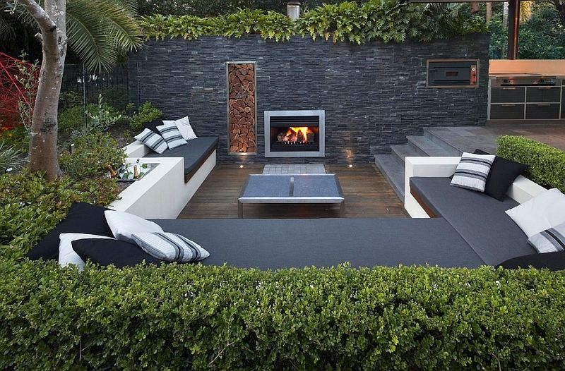 Sunken Seating Areas That Spark Conversations Backyard Seating Area Modern Backyard Backyard Seating
