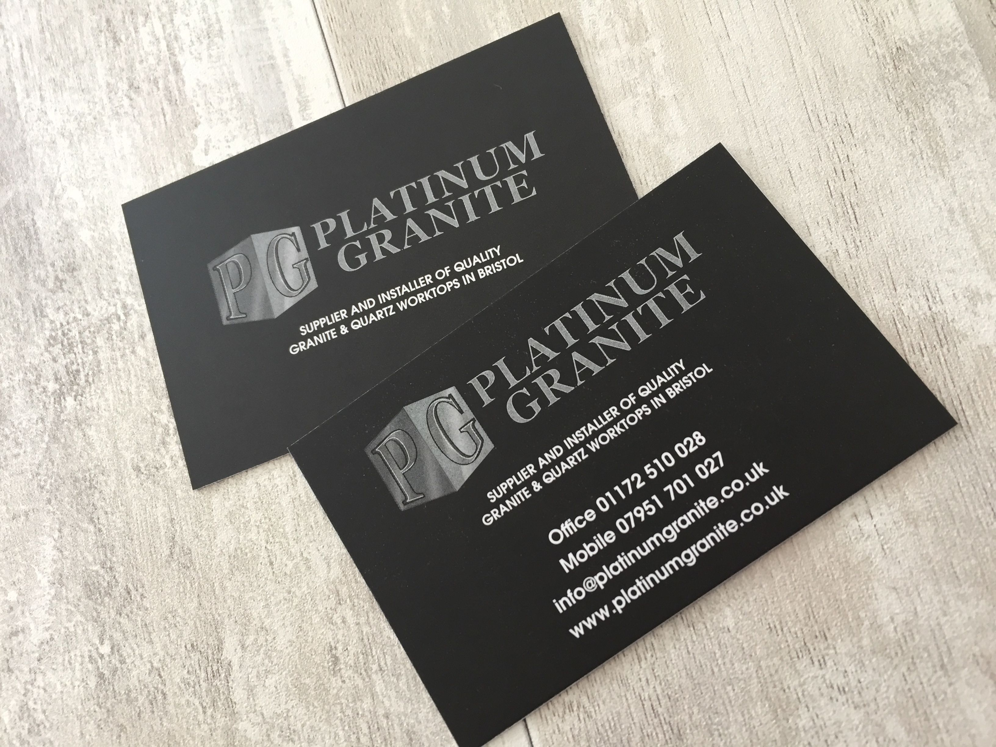Introducing Platinum Granite We Have Been Busy Working On Their New Website Design Www Platinumgranite Co Business Card Design News Website Design Card Design