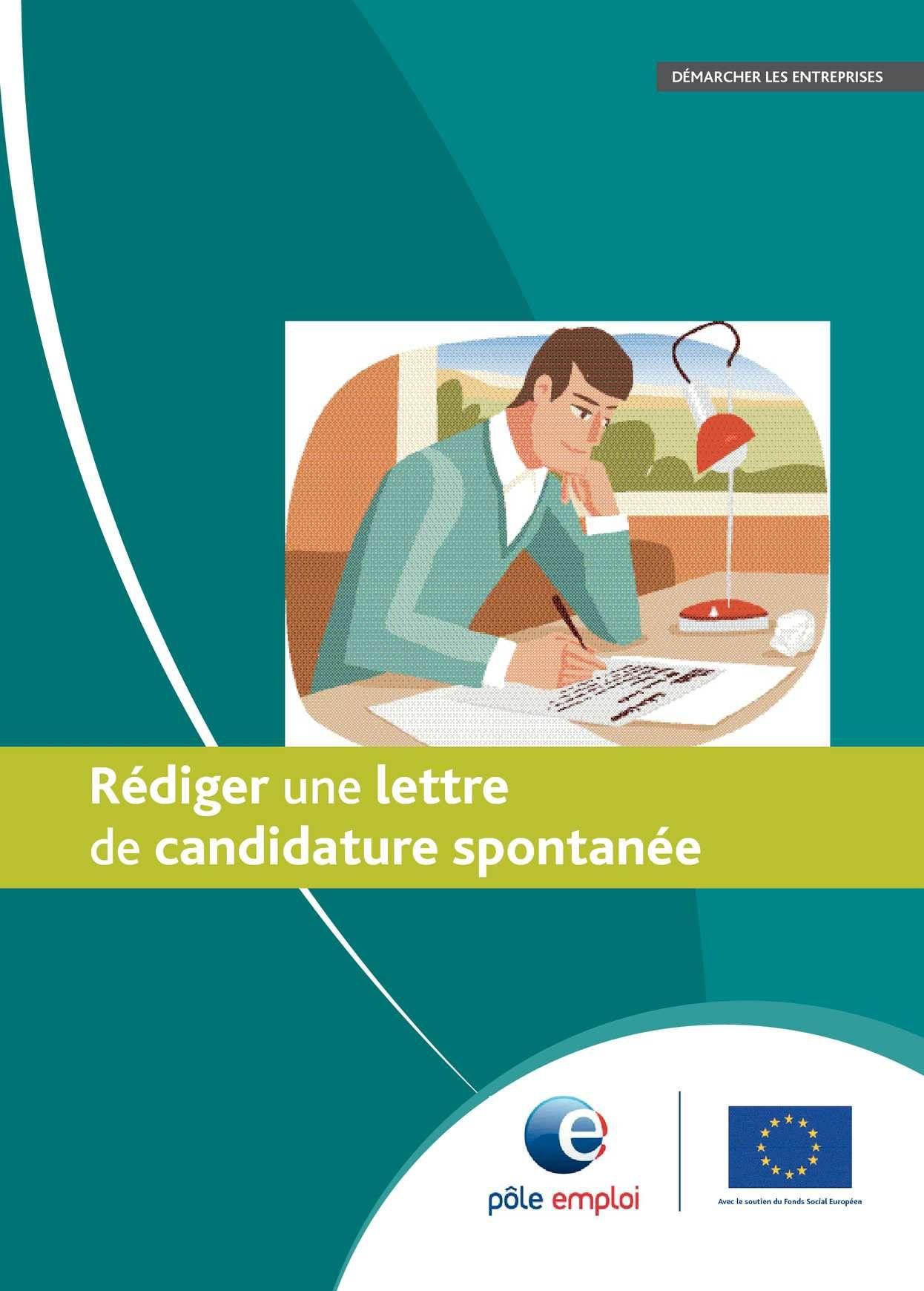 rediger une lettre de candidature spontanee