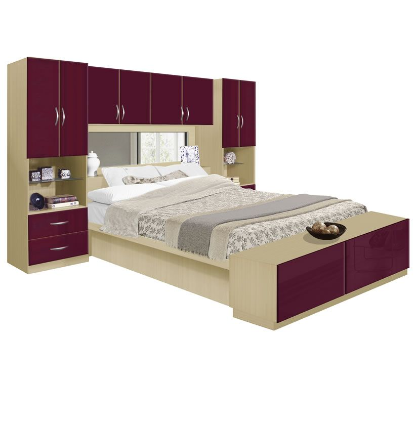 Studio Pier Wall Bed With Top Storage Bridge Contempo Space - Overhead storage bedroom furniture