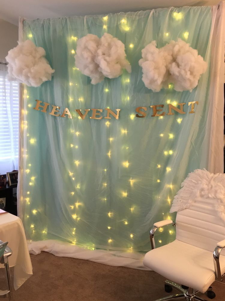 This Would Love Great For Backdrop Rainbow Baby Shower Angel