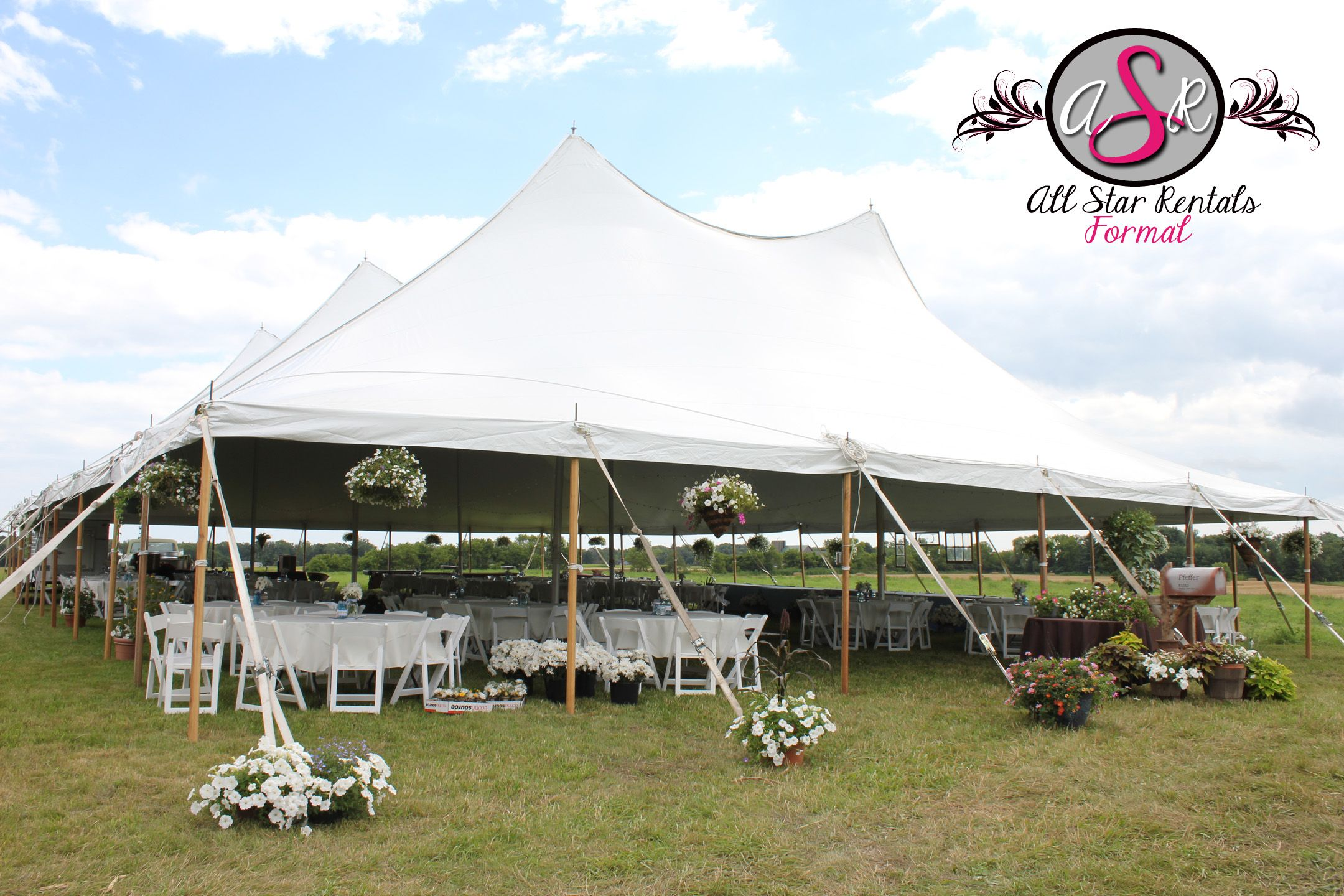 Hide your tent stakes with gorgeous flower pots! #dressupthetent & Hide your tent stakes with gorgeous flower pots! #dressupthetent ...