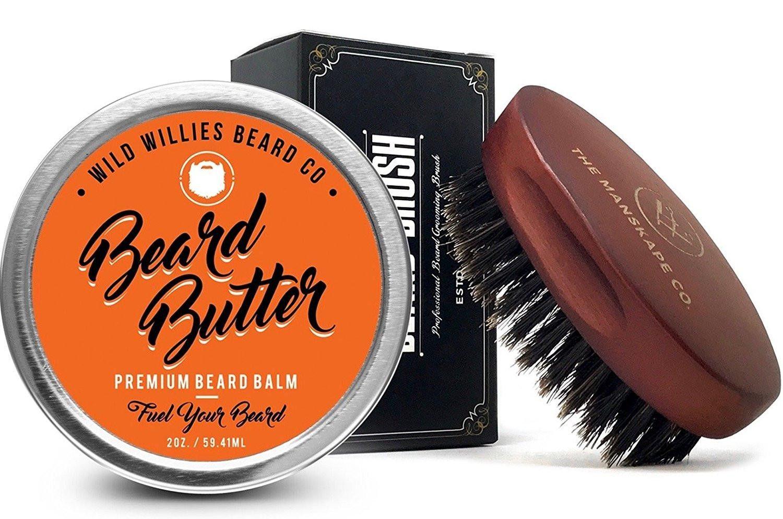 Beard Butter Balm & Beard Brush Combo Set Beard butter