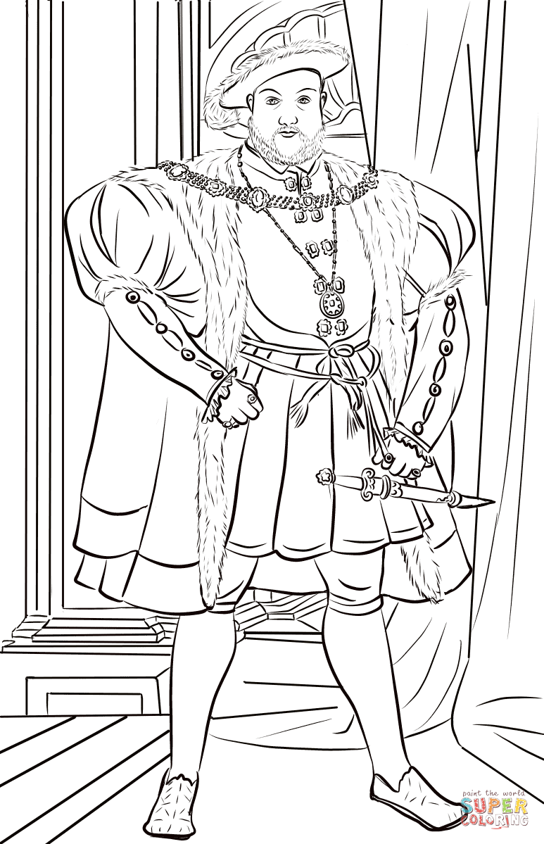 Henry Viii Of England Coloring Page Free Printable Coloring Pages Coloring Pages Free Printable Coloring Pages Printable Coloring Pages