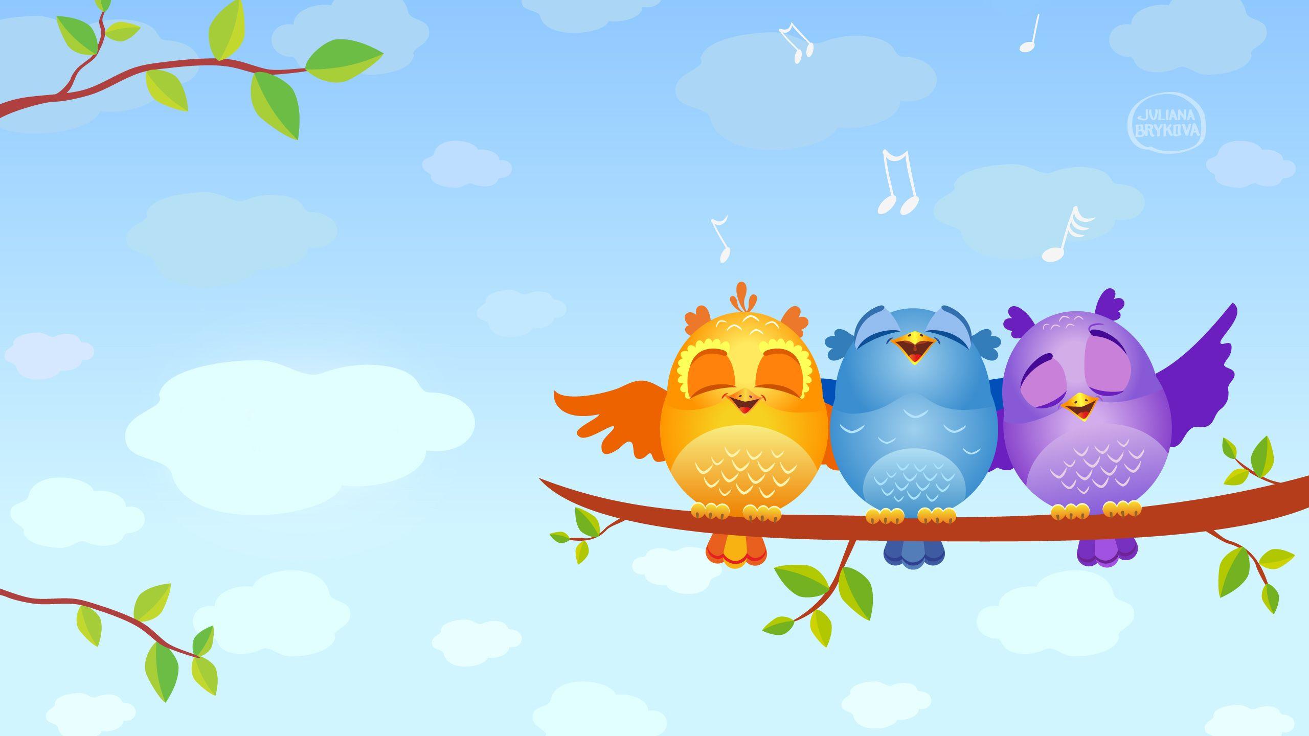 Singing Birds 4152868 Cute Wallpaper Backgrounds Cartoon
