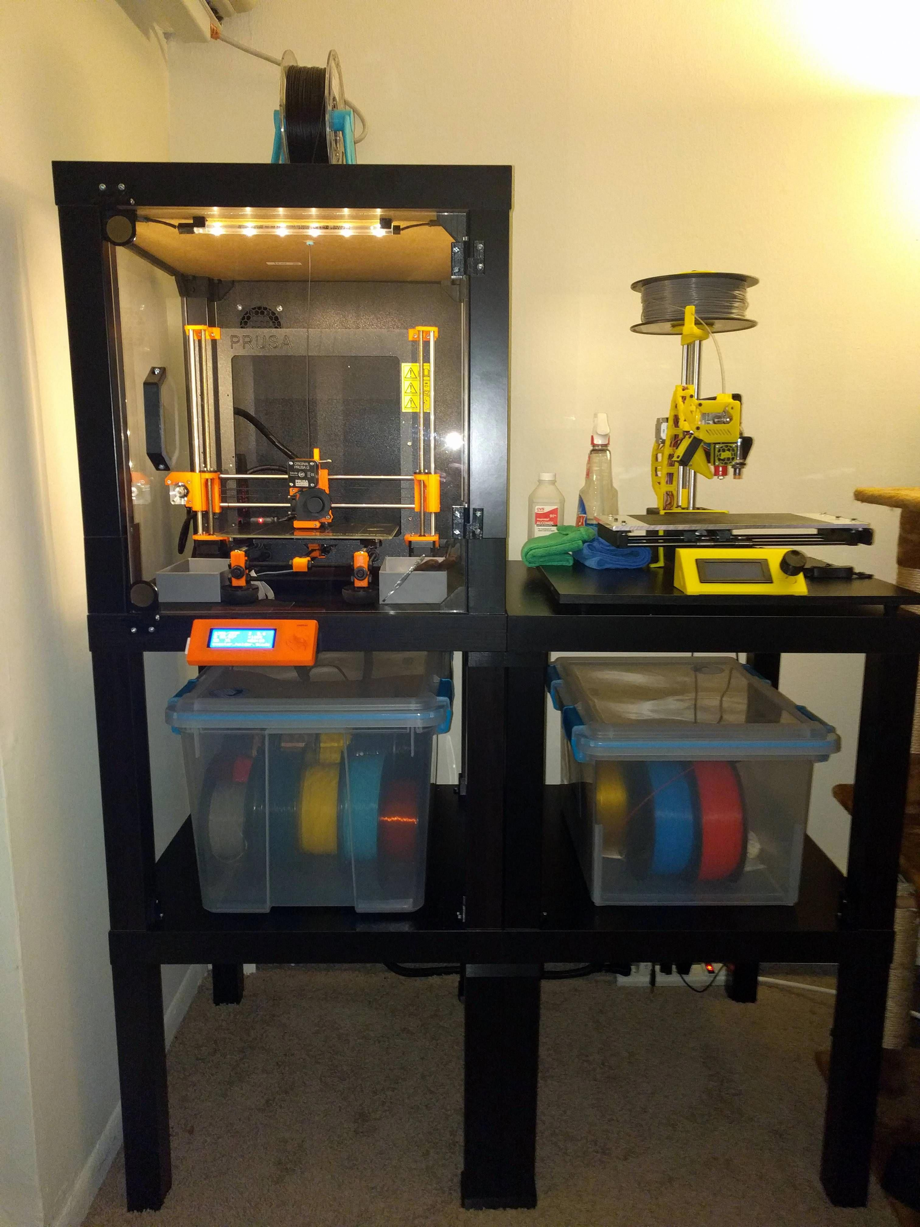 Ikea Lack enclosures are awesome. 3dprintingnews 3d