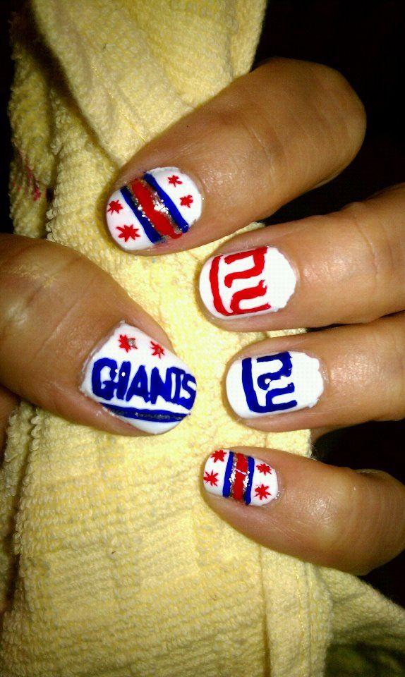 New york Giants nail art   Nails   Pinterest   Nail nail