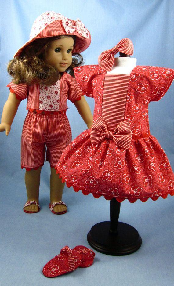 American Girl Doll Clothes - Red Wardrobe | Muñecas, Vestidos de ...