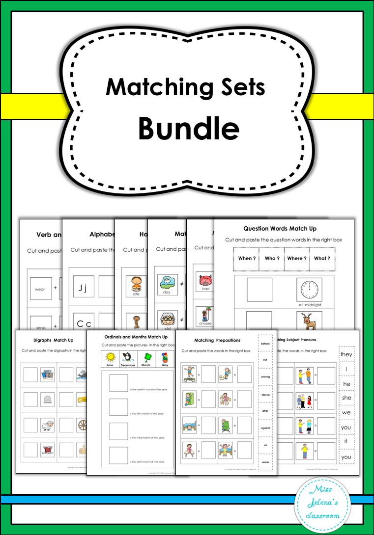 Matching Sets Bundle Special Education Kindergarten