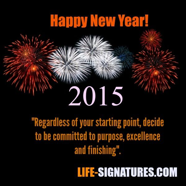 The Top 3 Commitments For 2015 | Life Signatures