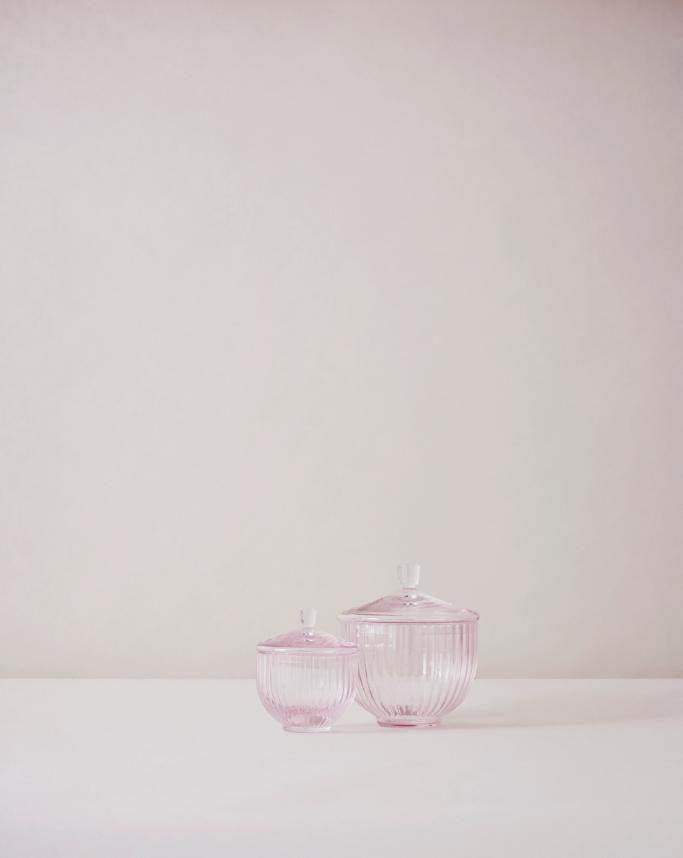 Rose Glass Bonbonnieres by Lyngby Porcelæn #porcelænsfabrikkendanmark #monogram #original