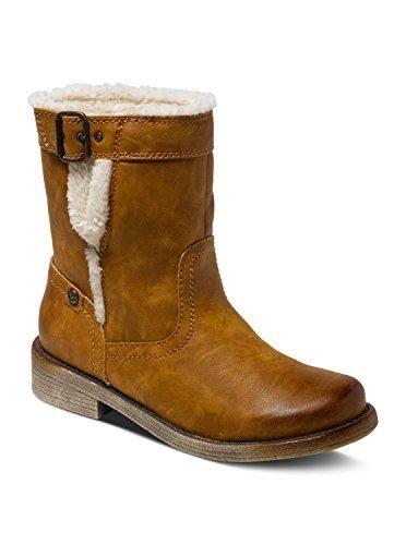 Zapatos marrones con cremallera Roxy para mujer Precio de corte dFuKplsgg