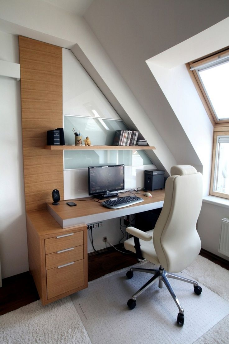 Functional Attic Office Designs  Minimalist home, Home office
