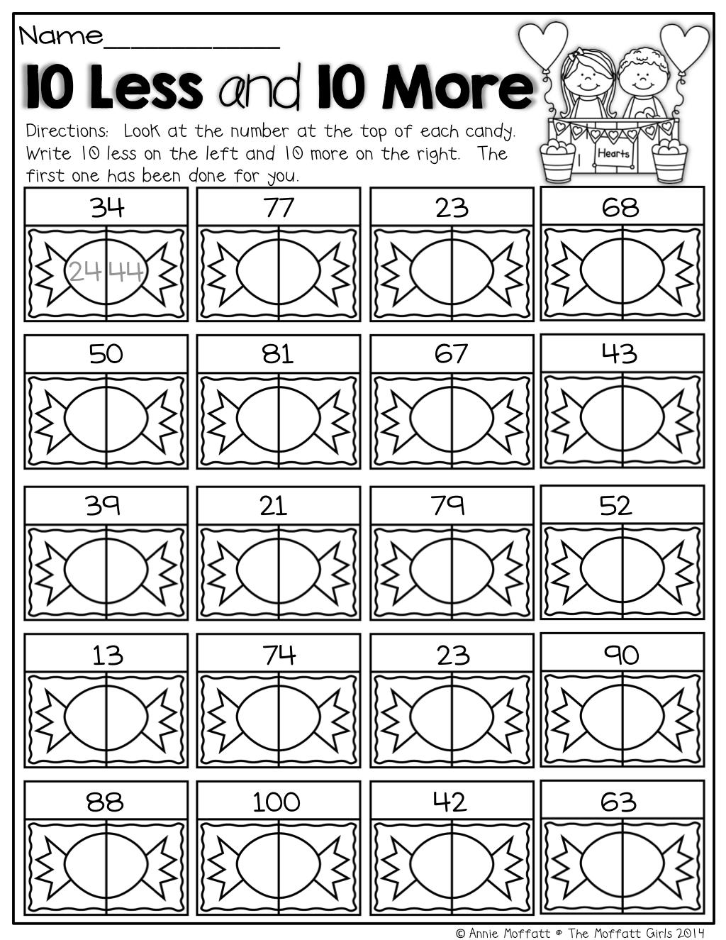 February No Prep Packet 1st Grade 1st Grade Math Homeschool Math Math Lessons [ 1325 x 1024 Pixel ]