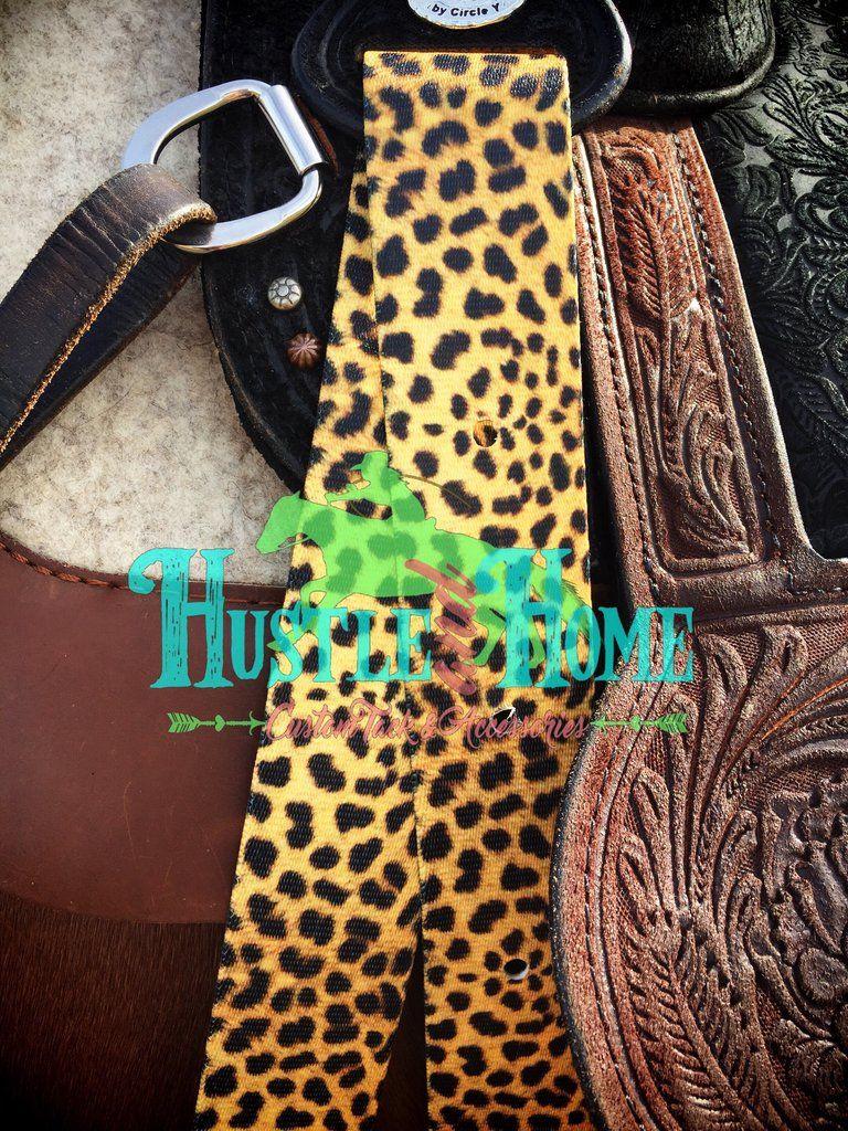 5f22fa3e0d63 Cheetah Print Cinch Straps #leopard #latigo #cheetahtack #customtack  #horsetack #hustleandhome