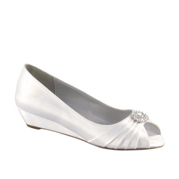 18fb1ad6371c2 Wedding Shoes - Custom Colors 120 - Women s PBD101 Bridal Wedge Shoes