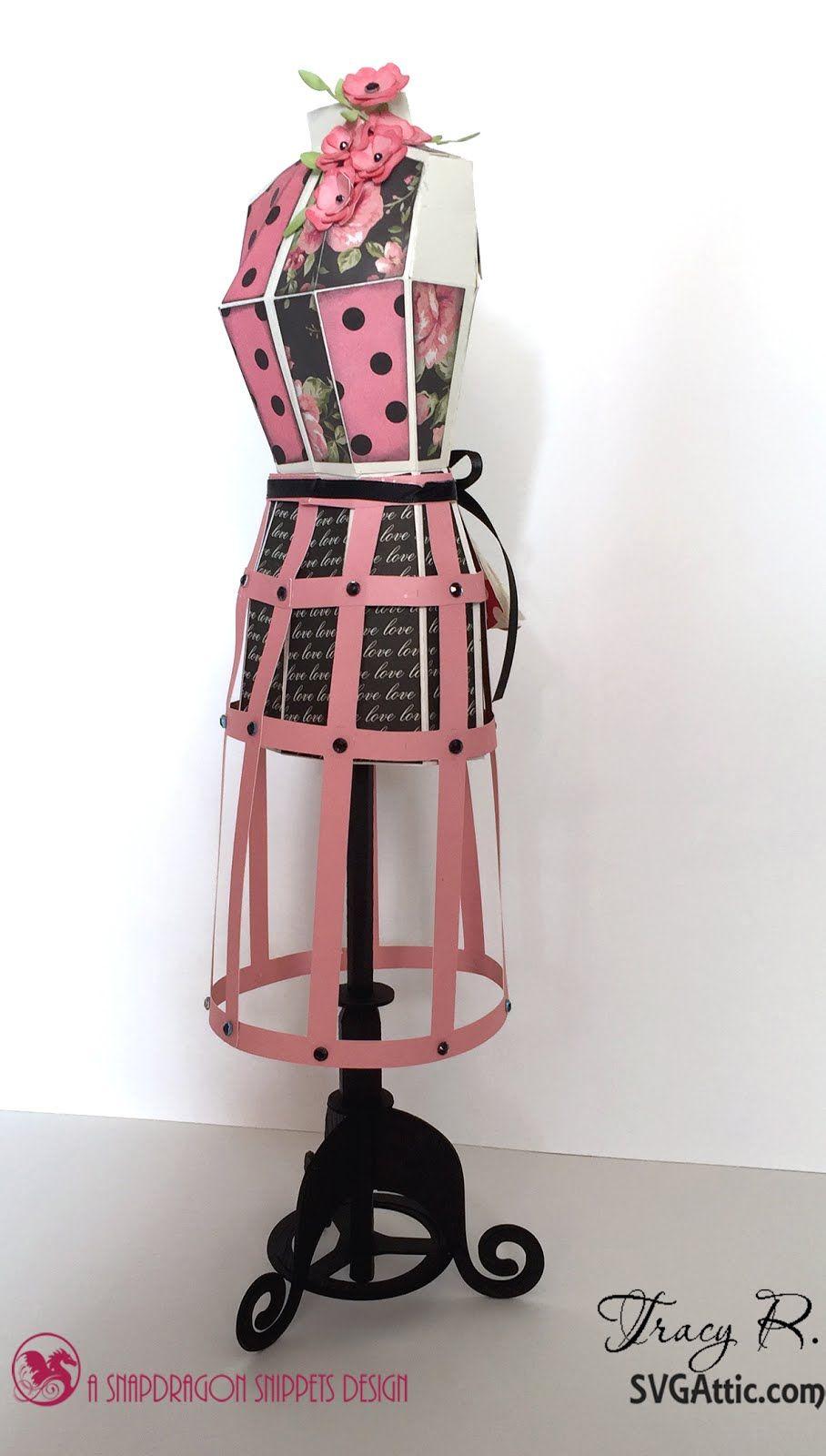 SVG Attic Blog: 3D Dressmaker's Mannequin