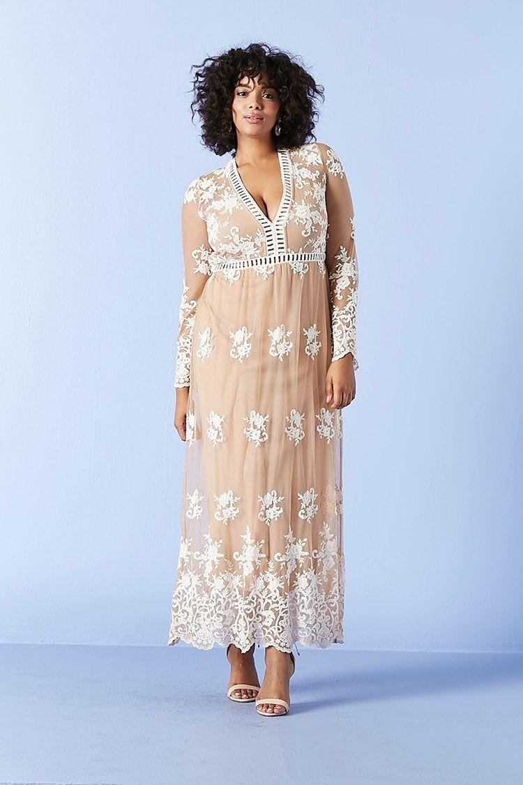 Plus size dressy dresses cheap