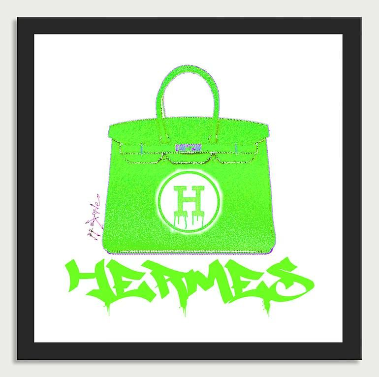 Photo of Original Fashion Printmaking by Dr Eight Love   Pop Art Art on Canvas   Hermes handbags color 9 – Canvas Limited Edition