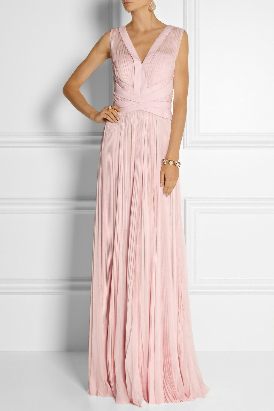 J Mendel Pleated chiffon gown | Me gusta | Pinterest | Vestiditos ...