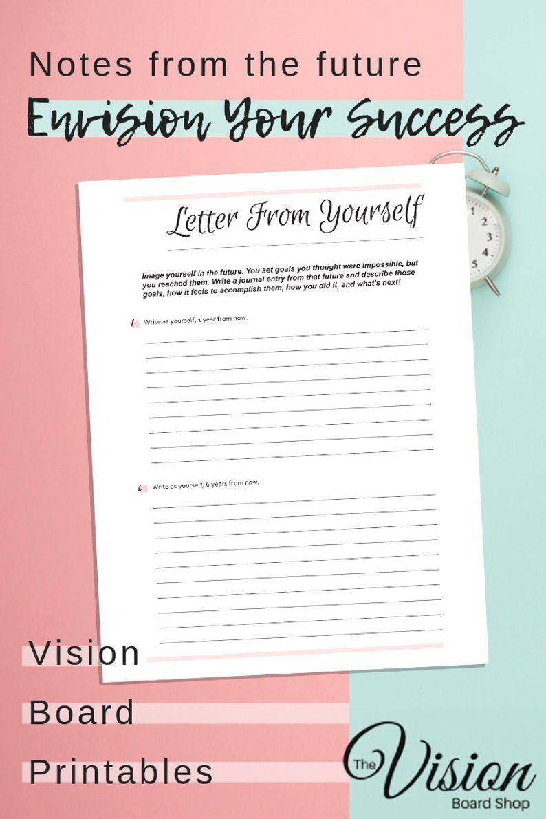 Vision Board Printable Worksheet