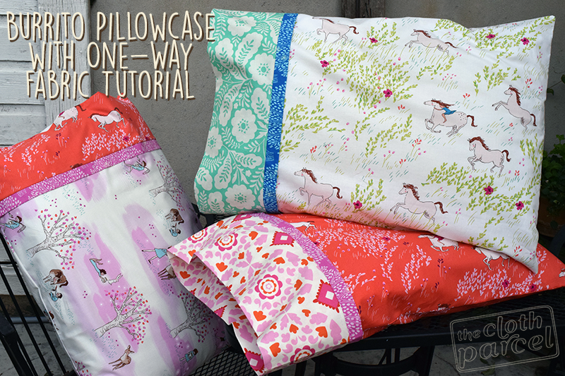 How Much Fabric To Make A Pillowcase Mesmerizing Make This Burrito Pillowcase With One Way Fabric Tutorial The Inspiration