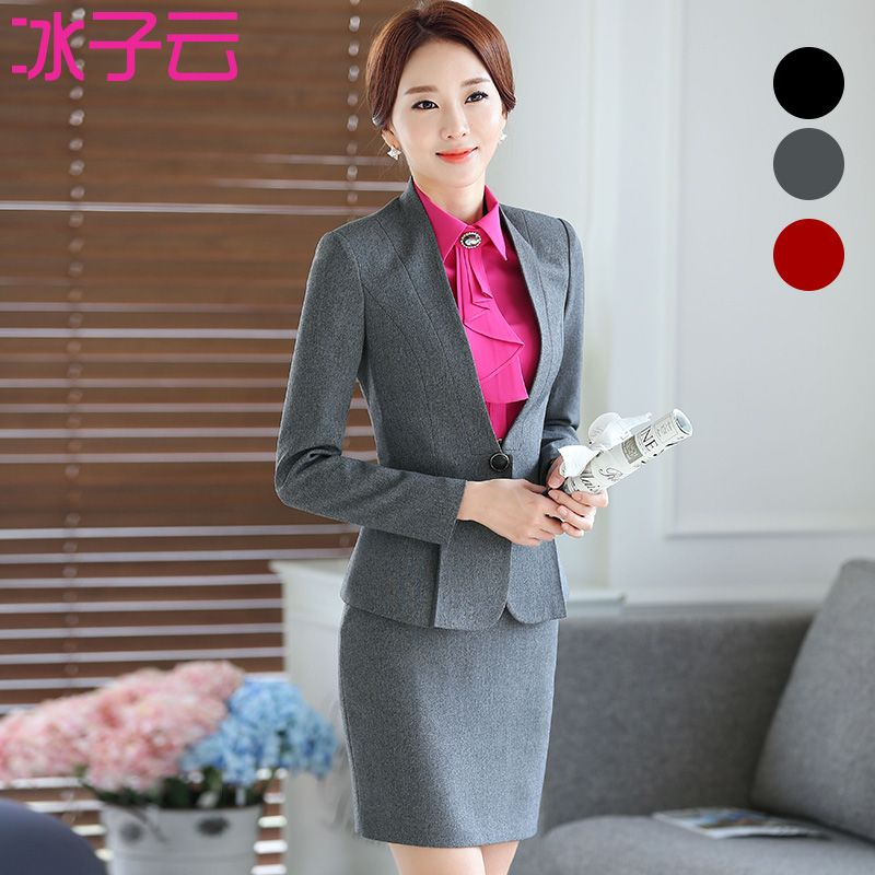 Wear spring new non-iron suits, interview suits Korean version of high-grade OL career suits