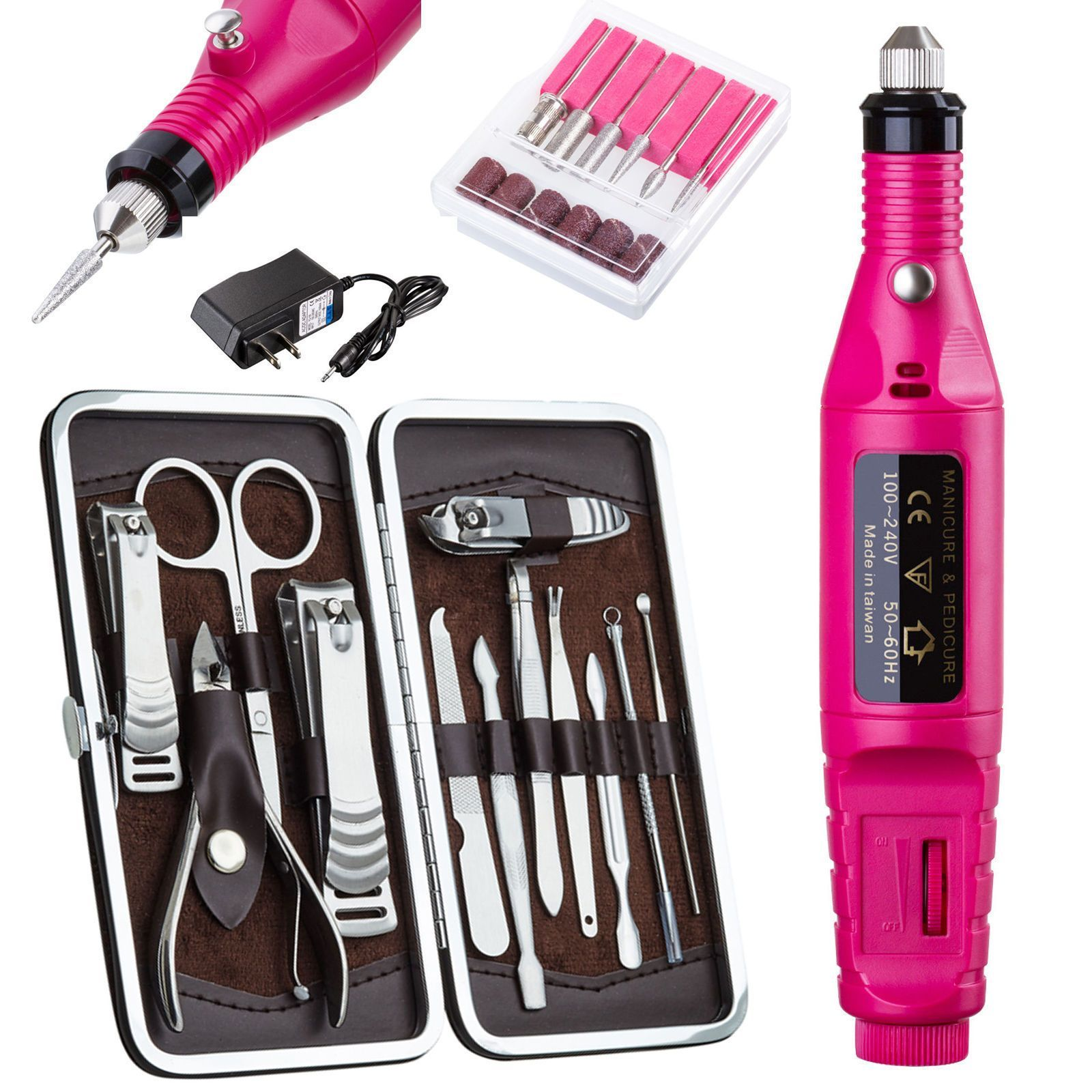 Professional Electric Nail Drill, 12-in-1 Nail File Manicure ...