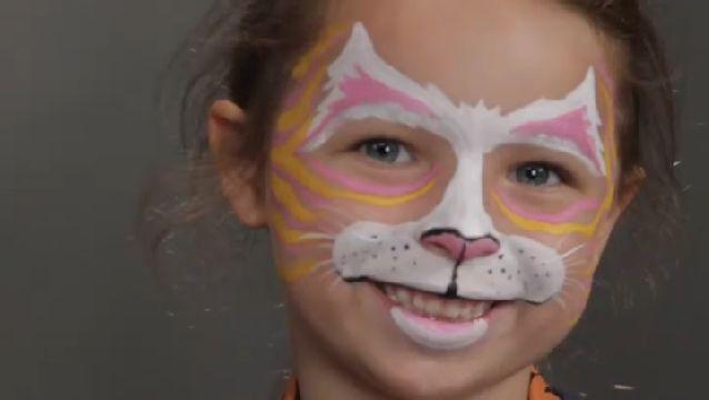 Halloween costume ideas Kitty Cat Face Painting Holiday - face painting halloween ideas