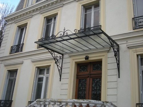 marquises ferronnerie d 39 art marquise pinterest auvents marquise et fer forg. Black Bedroom Furniture Sets. Home Design Ideas