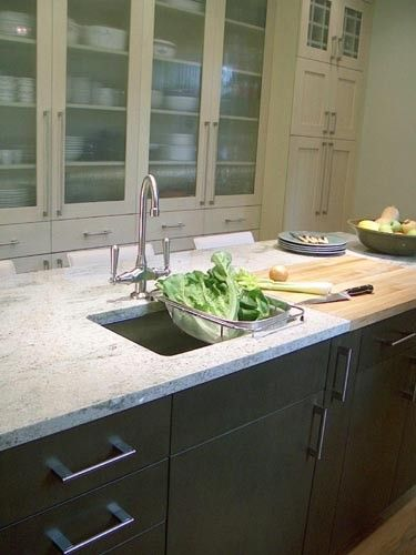 Bianco Romano granite Looks nice on white or black cabinets  also