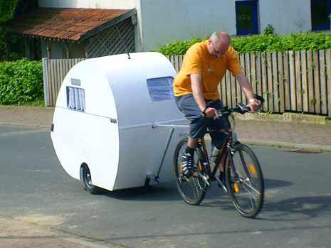 The Bicycle Rv Camper Bike Camping Camper Trailers Camper