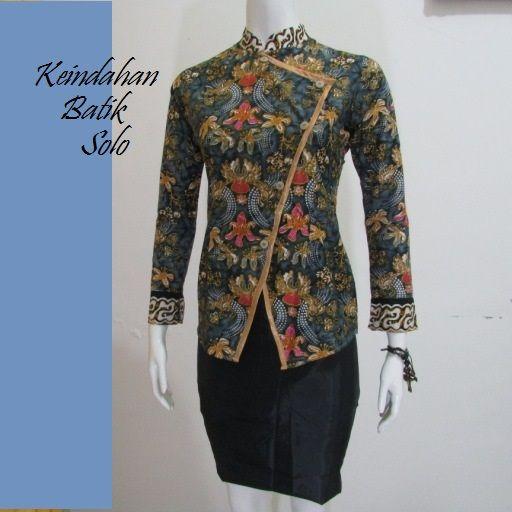 Batik Kerja Wanita Model Terbaru Bb251 Kurti In 2019 Kebaya
