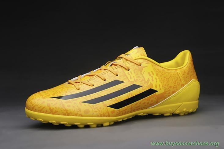 brand new 8eb93 3adab Newest Leo Messi TF ADIDAS ADIZERO F50 Yellow Black