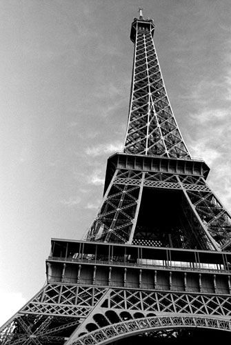 This Is The Hot Eiffel Tower Black White Wallpaper Background