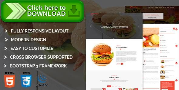 Free Nulled Food Hut  Restaurant Html Template Download