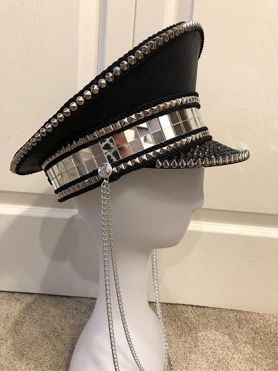 705d596f1 AGENT DISCO - captain's hat, Burning Man hat, festival hat ...