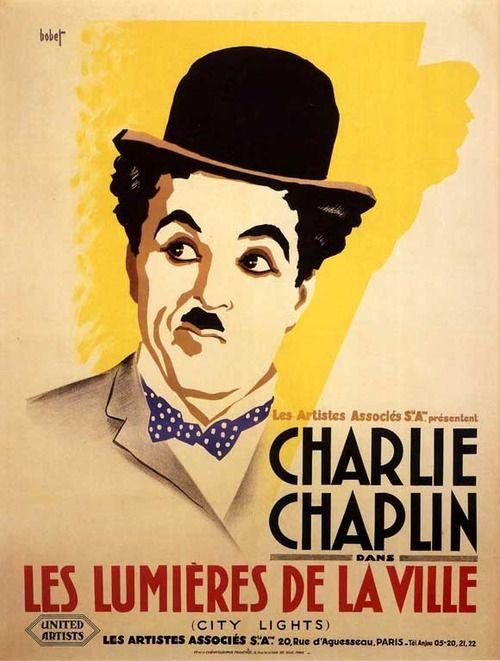 Charlie Chaplin Vintage French Movie Poster Les Lumieres De La Ville Chaplin Charlie Chaplin Affiche