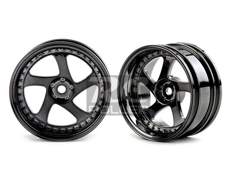 Car Parts :: Tire / Wheel / Disk :: MST 102045SBK Silver black TMB wheel (+8) (4) -