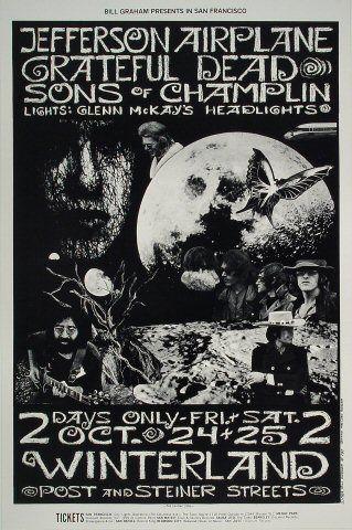 October 24, 1969 Winterland Poster