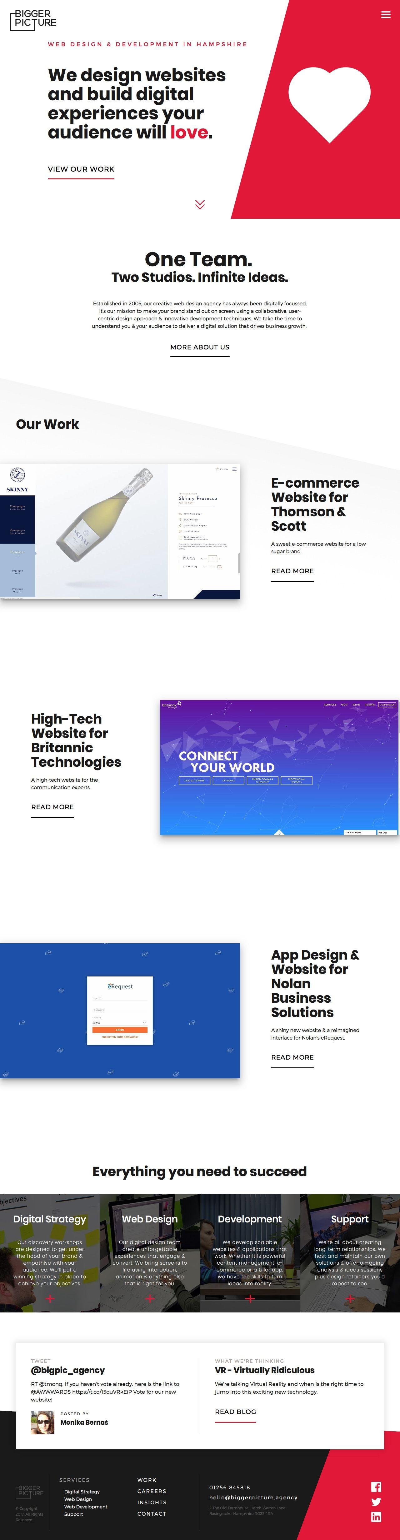 Bigger Picture The Digital Design Agency Web Design Best Landing Page Design Creative Web Design
