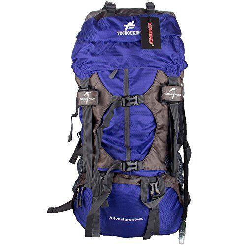 WASING 55L Internal Frame Backpack Hiking Backpacking Packs for ...