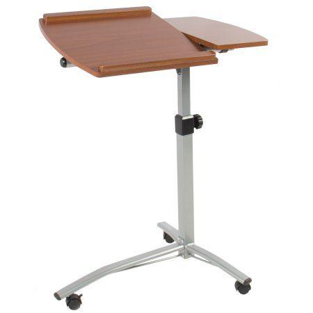 Laptop Desk Hospital Table Cart Mobile Bed Stand Height Adjustable Side Storage