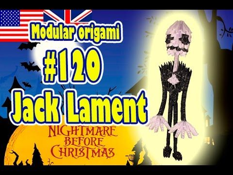3D MODULAR ORIGAMI 120 JACK LAMENT The Nightmare Before Christmas H