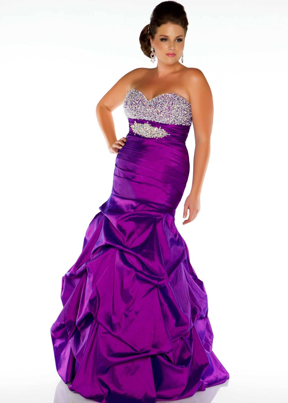 purple mermaid dress | ... Duggal 61322F- Purple Strapless Mermaid ...