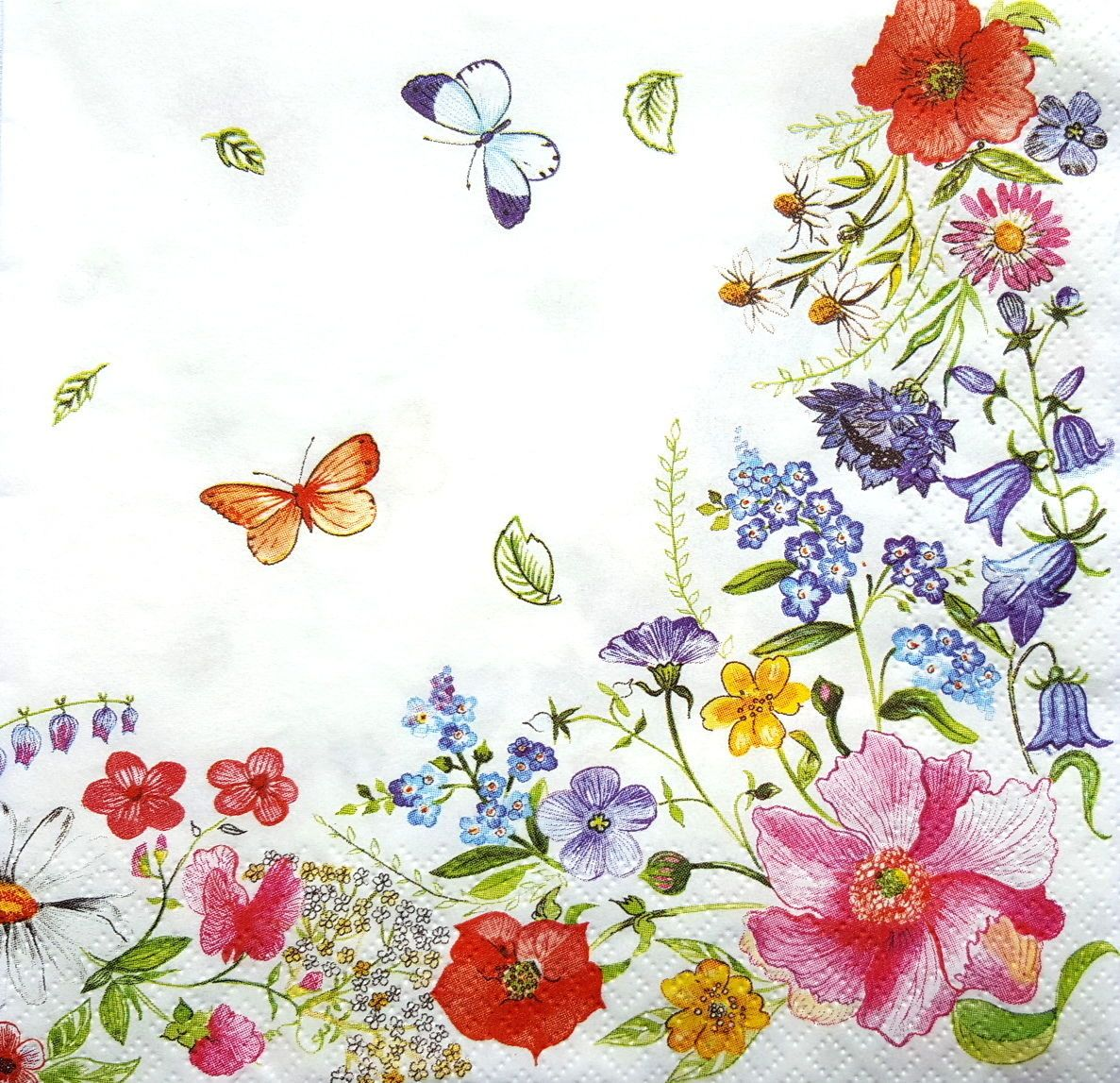 Craft//  Party for Decoupage //Magnolia 4 x Single Vintage Table Paper Napkins