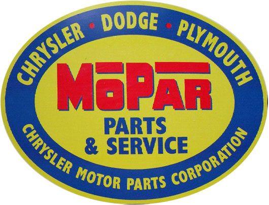 "Mopar Service Department Aluminum Sign  6/"" x 24/"""
